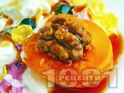 Плодова салата със заквасена сметана - снимка на рецептата